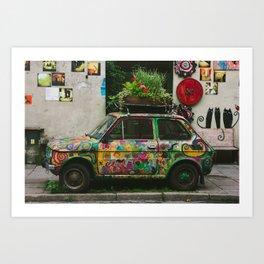 Funky Car Art Print