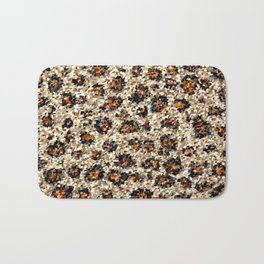 Scalloped Leopard Bath Mat