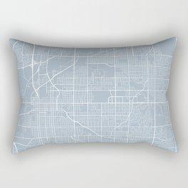 Lincoln Map, USA - Slate Rectangular Pillow