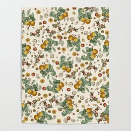 Apples Pears Peaches Poster