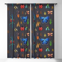 Entomology (Black) Blackout Curtain