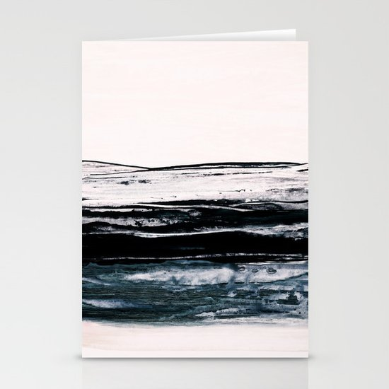 abstract minimalist landscape 9 Stationery Cards