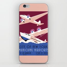City of New York municipal airports iPhone Skin