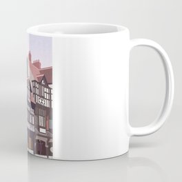 Retro Style Travel Poster - Chester Rows Coffee Mug