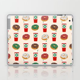 Coffee donuts foodie brunch breakfast desserts coffee lovers gifts Laptop & iPad Skin