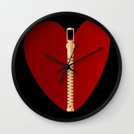 Zipper Heart Wall Clock