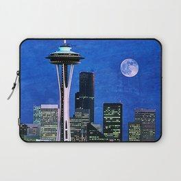 Blue Seattle Space Needle Laptop Sleeve