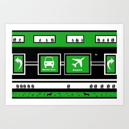 Busy Airport Art Print