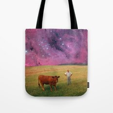 How Now Brown Cow #2 - What's that man doing in my field? Tote Bag