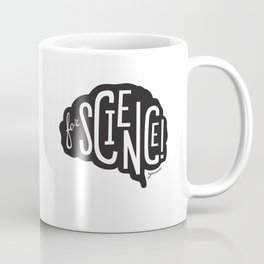 For Science! Brain Black Coffee Mug