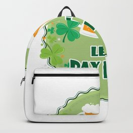Let's Day Drink ST. Patrick's Day Drinking Beer Backpack