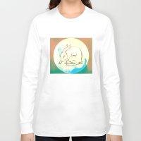 rabbit Long Sleeve T-shirts featuring Rabbit by Danielle Summerfeldt