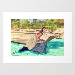 Claire&Jamie Art Print