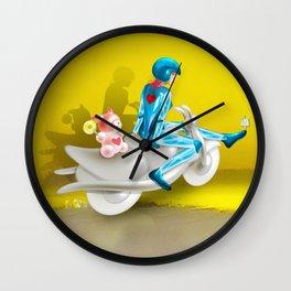 Time Bunny Girl and Love Robo Wall Clock