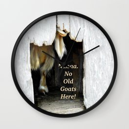 No old goats here! Wall Clock