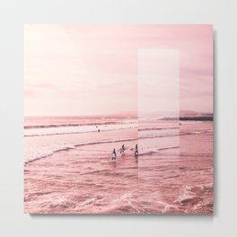 Pink Coast Metal Print