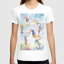 Colorful Seahorses T-shirt