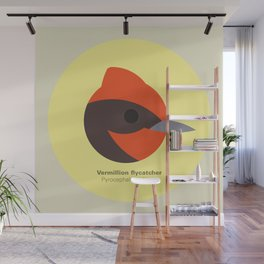 Vermillion flycatcher Wall Mural