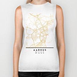 AARHUS DENMARK CITY STREET MAP ART Biker Tank