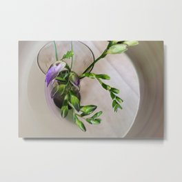 purple freesia buds Metal Print
