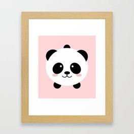 Lovely kawai panda bear Framed Art Print