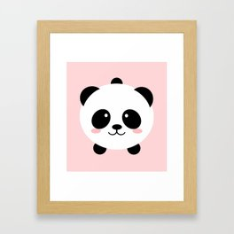 Lovely kawai panda bear Framed Art Print