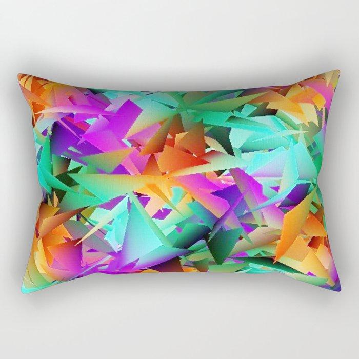 Paper Roses Rectangular Pillow