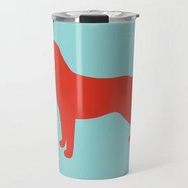 Lab / Labrador Retriever (orangered) Travel Mug