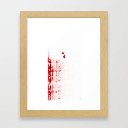 Red 12 Framed Art Print