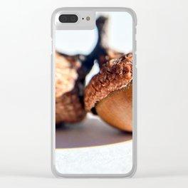 Acorn Autumn Warm Photograph Clear iPhone Case