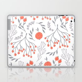 Red Berry Floral Laptop & iPad Skin