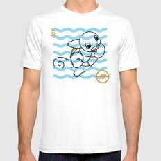 S-007 Mens Fitted Tee White SMALL
