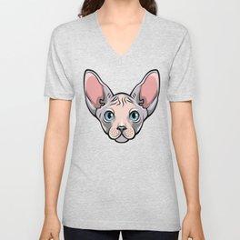 Cool Sphynx Cat Tee Shirt - T Shirt Gift For Cat Lovers Unisex V-Neck