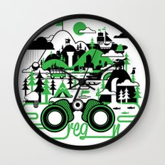 O is for Oregon Wall Clock