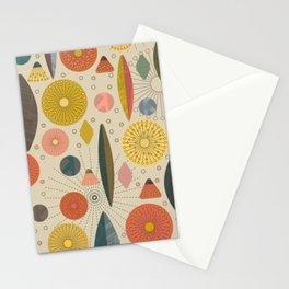 Mid Century Modern Eucalyptus with Retro Vibes Stationery Cards