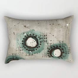 Sepia Circles Low Rectangular Pillow