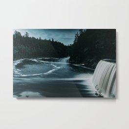 Tahquamenon Falls Blue Metal Print