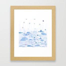 Falling Flowers Framed Art Print