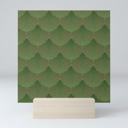 green shells Mini Art Print