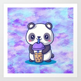Boba Panda Art Print
