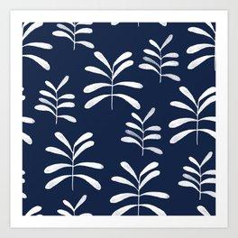 Bromeliads - indigo Art Print