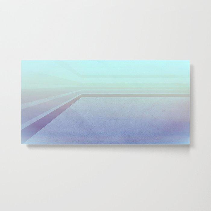 Horizontal flight (Blue edition) Metal Print