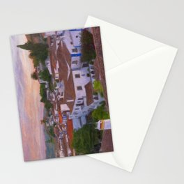The walled town of Obidos, Portugal Stationery Cards