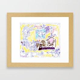 All In Goddess Time Framed Art Print