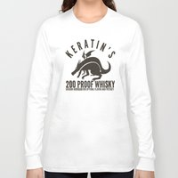 whisky Long Sleeve T-shirts featuring Keratin's Dragon Distilled Whisky by critjuice