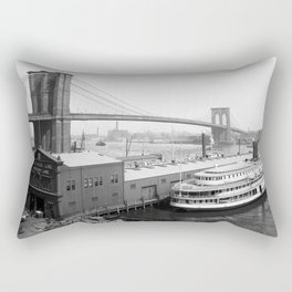 Brooklyn Bridge and the East River - NYC - 1905 Rectangular Pillow