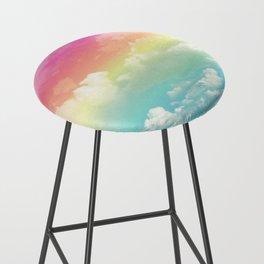 Clouds in a Rainbow Unicorn Sky Bar Stool