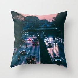 Tokyo trafic Throw Pillow
