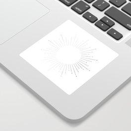 Sunburst Moonlight Silver on White Sticker
