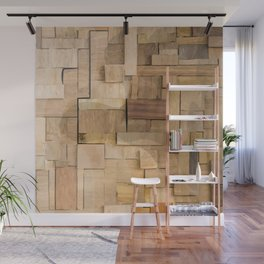 Wood bas-relief Wall Mural